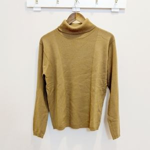 Pendleton Vintage Olive Green Wool Turtleneck